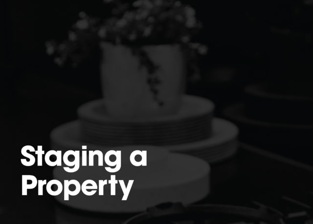 Staging a property